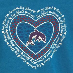Dolphin/Heart Big Island Hawaii youth tee, NWT